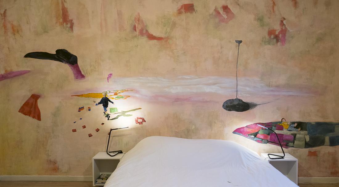 muurschildering kamer